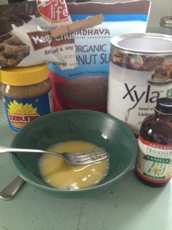 Ingredients - with sunflower seed butter shown