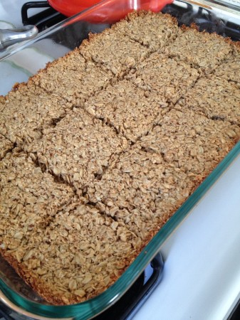 Bake 20ish minutes at 375.  I like to slice them hot but don't take them out till they are cooled.